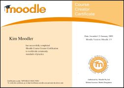 Sample Moodle Teacher Certificate